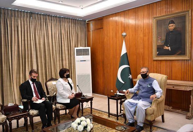 Sahibə Qafarova Pakistan prezidenti ilə görüşdü -  FOTO