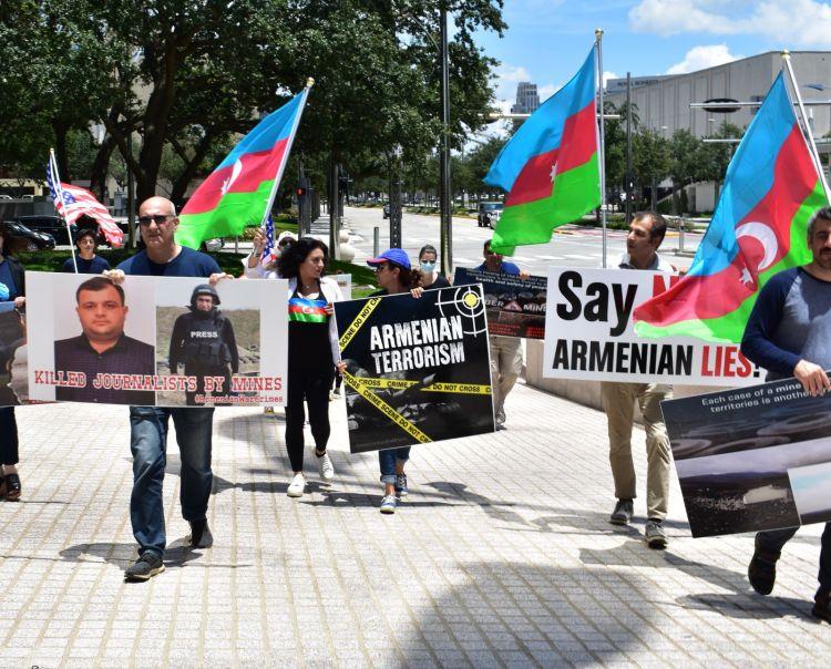 Hyuston şəhərində Ermənistana etiraz aksiyası keçirilib