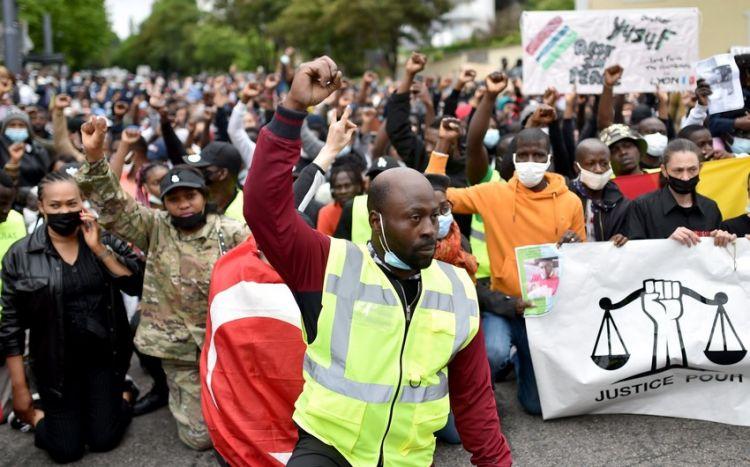 Fransada 3 erməni qatilə qarşı etiraz aksiyası -  FOTO