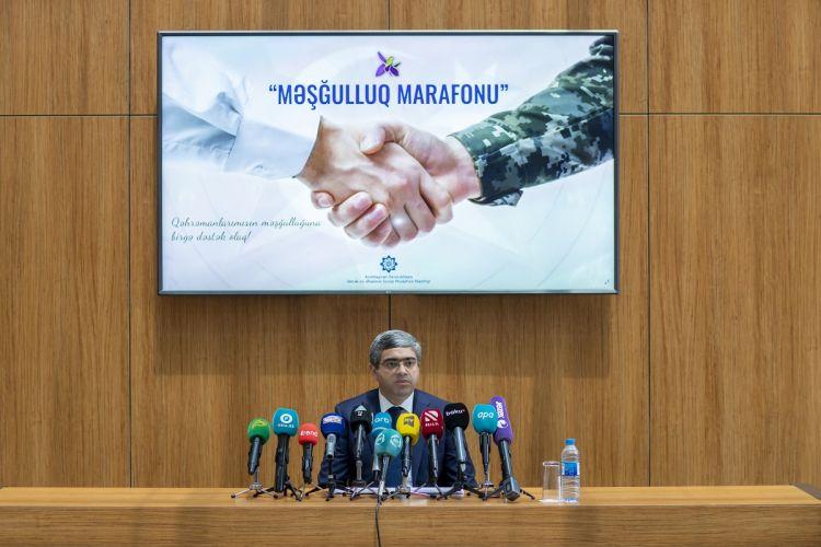 """""""Məşğulluq marafonu""""na həsr olunmuş mətbuat konfransı keçirilib"""