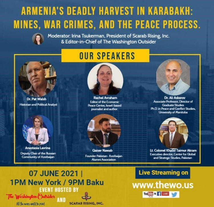 Ermənistanın hərbi cinayətlərinə dair beynəlxalq vebinar təşkil edilib