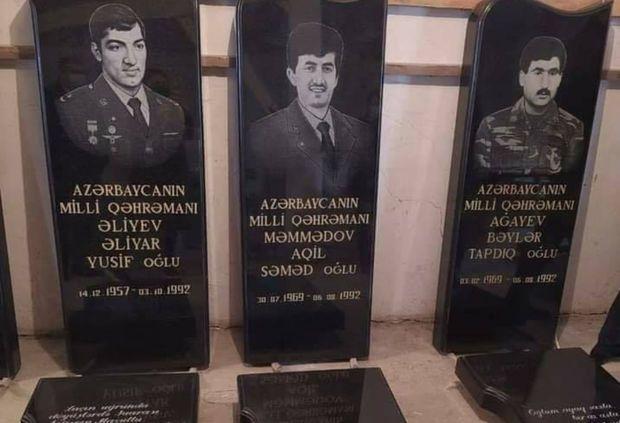 Beş Milli Qəhrəmanın qəbirüstü abidəsi bərpa edildi