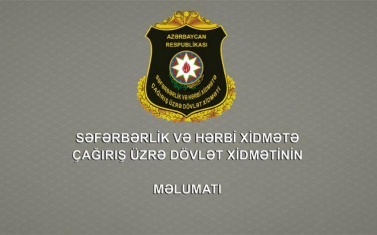 Dövlət Xidməti çağırışçılara müraciət edib