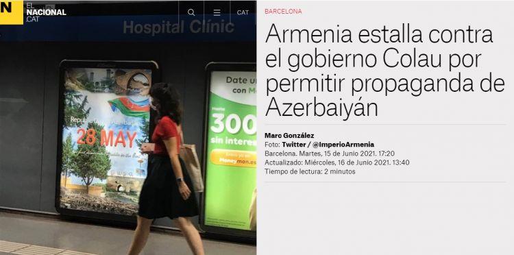 Ölkəmizin tanıdılması Barselonadakı erməni icmasını və Ermənistan səfirini qıcıqlandırıb