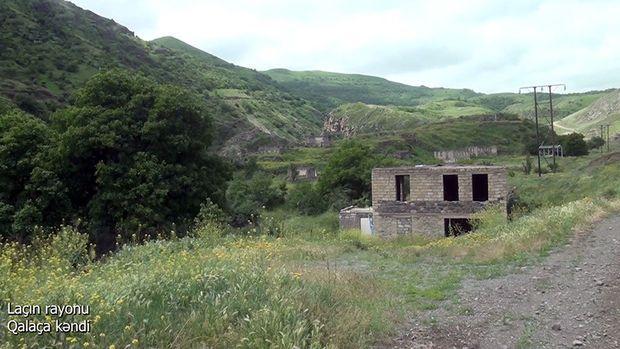 Laçın rayonunun işğaldan azad olunmuş Qalaça kəndi -  VİDEO