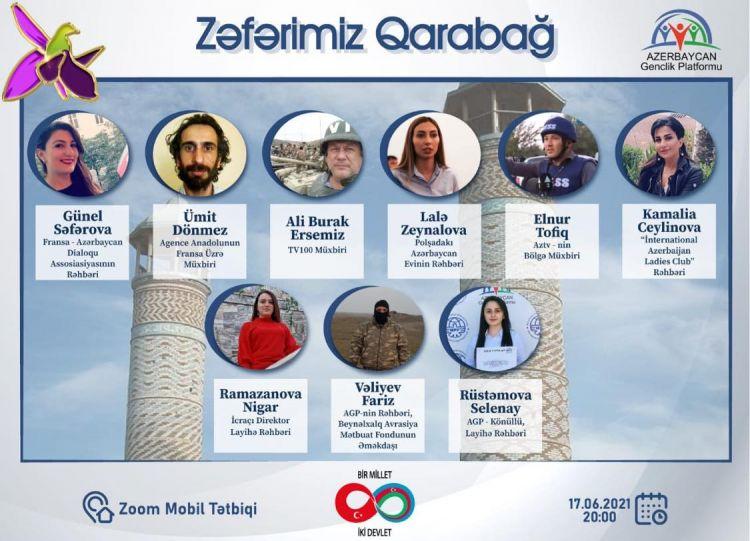 """""""Zəfərim Qarabağ"""" mövzusunda videokonfrans  təşkil edilib"""
