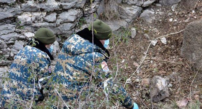 Daha bir erməni hərbçisinin cəsədinin qalıqları aşkar olunub