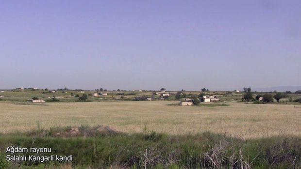 İşğaldan azad edilmiş Salahlı Kəngərli kəndindən görüntülər -  VİDEO
