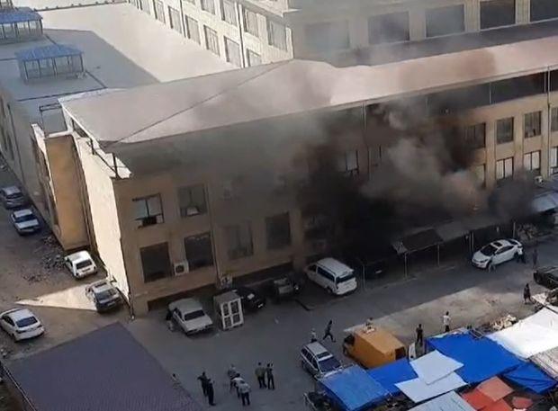 Xırdalan bazarındakı yanğın söndürüldü -  YENİLƏNİB - VİDEO