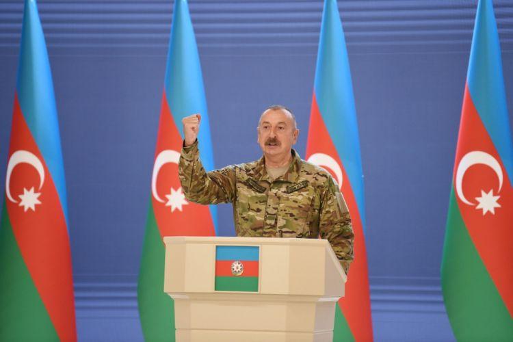 """Prezident İlham Əliyev:  """"İkinci Qarabağ müharibəsi bizim imkanlarımızı bütün dünyaya göstərdi"""""""