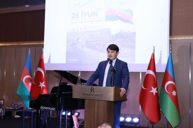 Azərbaycan diasporu İstanbulda Silahlı Qüvvələr Gününü qeyd edib -  FOTO