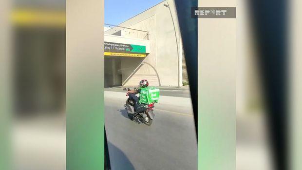 """""""Bolt"""" sürücüsündən yolda təhlükəli hərəkət -  VİDEO"""