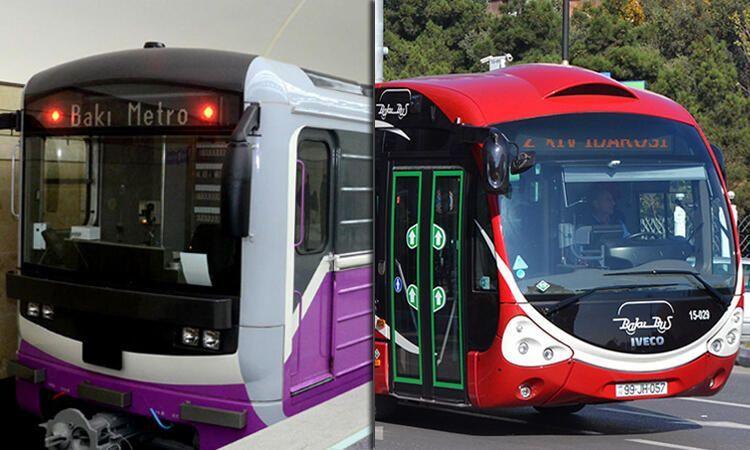 Bu həftənin şənbə günü  metro və avtobuslar işləyəcək