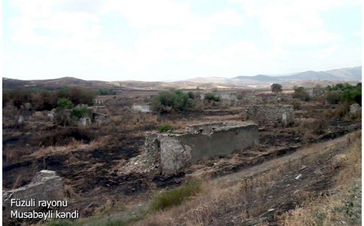 Füzulinin Musabəyli kəndinin görüntüləri -  VİDEO
