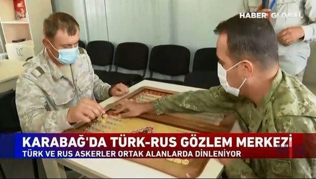 Türkiyə-Rusiya birgə monitorinq mərkəzindən görüntülər:  istirahətləri də birlikdədi – VİDEO