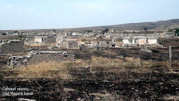 İşğaldan azad edilmiş Dağ Maşanlı kəndindən görüntülər -  VİDEO