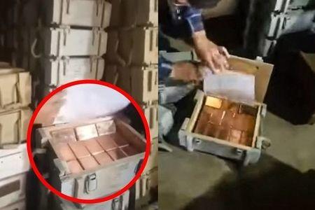 İranda silah-sursat yeşiklərindən 10 ton qızıl çıxarıldı -  VİDEO