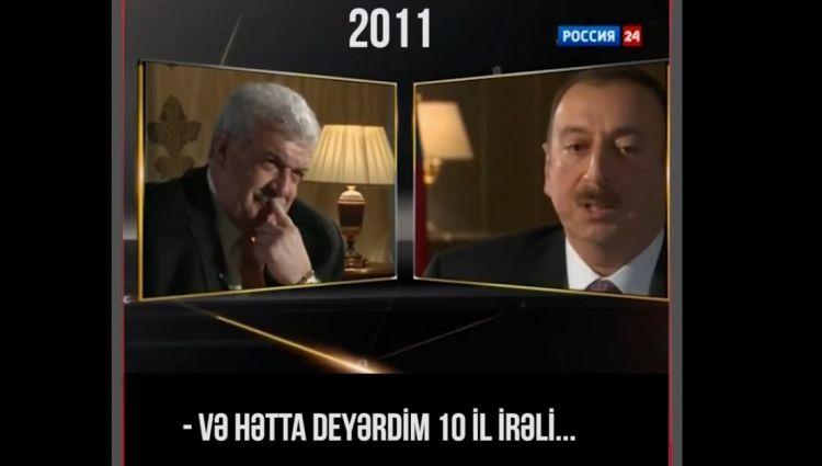"""İlham Əliyev: """"Əlimdə imkan olsa idi, 10 il irəli gedərdim və ..."""" - VİDEO"""