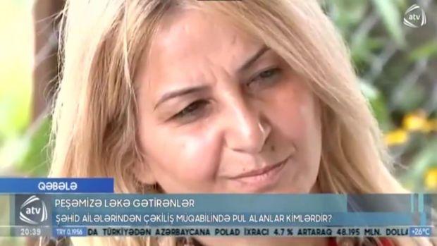 Şəhid ailələrindən çəkiliş üçün pul istəyən qadın danışdı - VİDEO