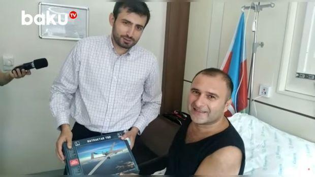 Səlcuq Bayraktar qazimiz Elnur Babayevi ziyarət edib – VİDEO