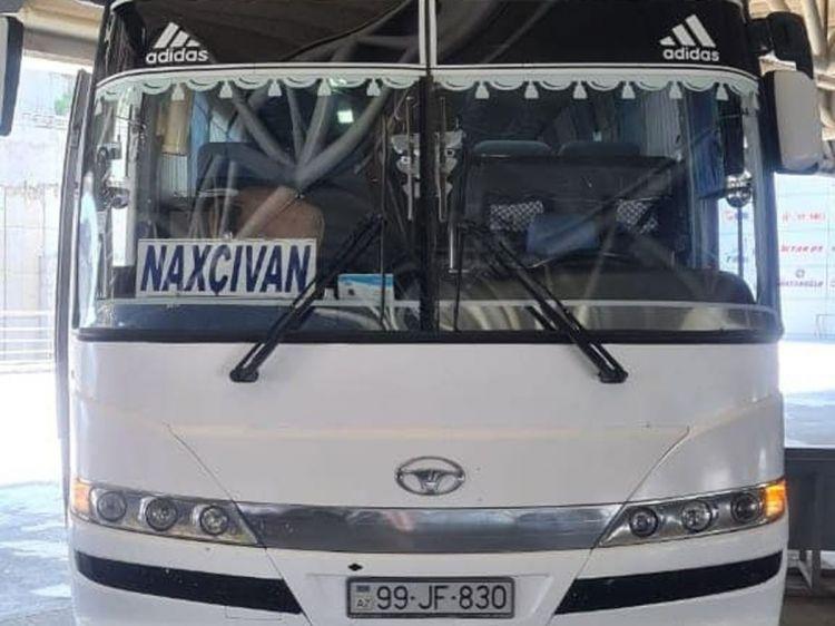 Bakıdan Naxçıvana ilk avtobus reysi yola salınıb -  FOTO