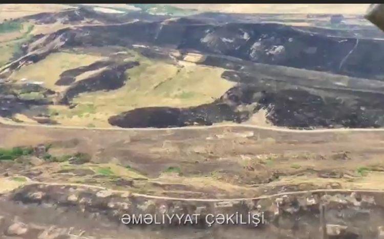 Xocavənddə yanğın:  əraziyə iki helikopter cəlb edilib - VİDEO
