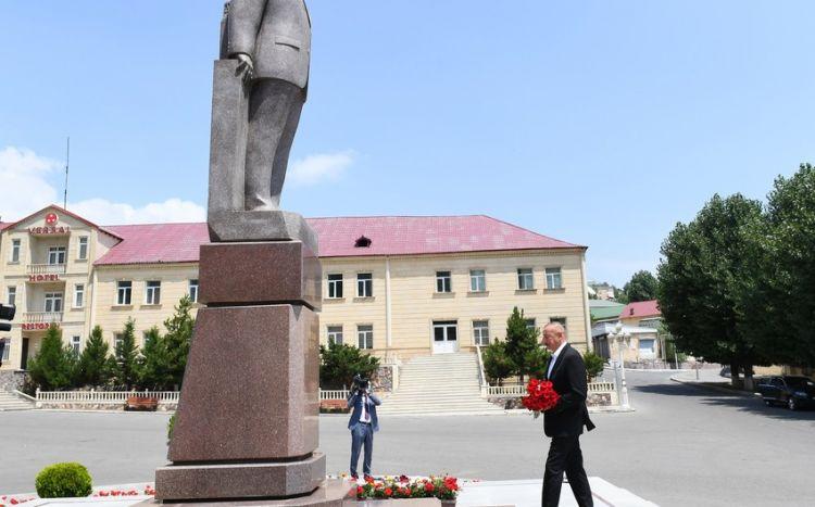 Prezident İlham Əliyev Daşkəsəndə səfərdədir