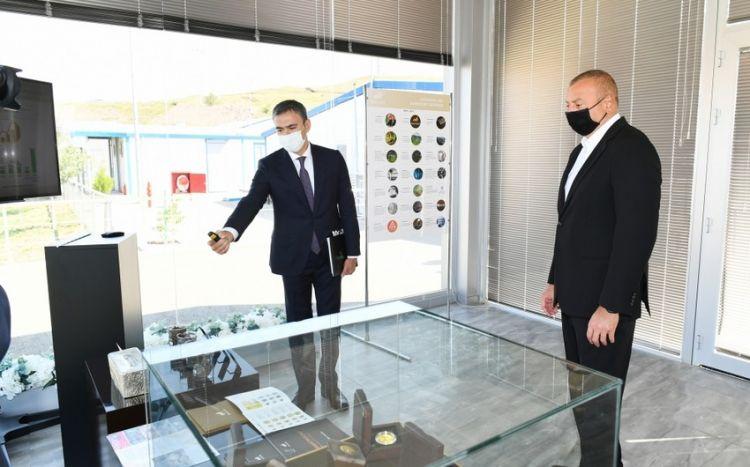 """İlham Əliyev """"Çovdar"""" İnteqrəolunmuş Regional Emal Sahəsinin fəaliyyəti ilə tanış olub -  YENİLƏNİB"""