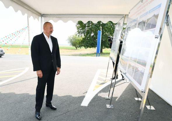 Prezident Goranboyda avtomobil yolunun açılışında iştirak edib - FOTO - YENİLƏNİB