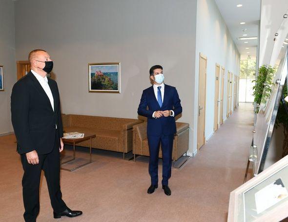 İlham Əliyev Naftalan Mərkəzi Sanatoriyasının açılışında iştirak etdi - FOTO - YENİLƏNİB