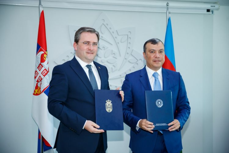 Azərbaycan və Serbiya arasında Hökumətlərarası Komissiyanın iclasında protokol imzalandı - FOTO