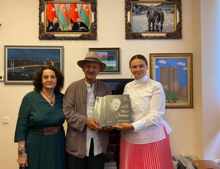 Qənirə Paşayeva məşhur fotojurnalist Rza Diqqəti ilə görüşüb - FOTO