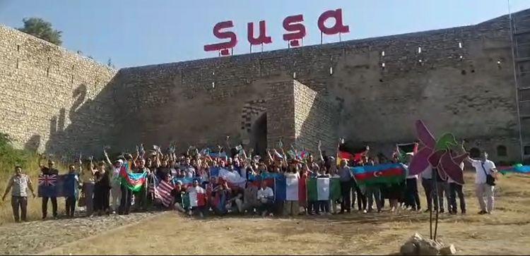 Diaspor nümayəndələrinin Şuşaya səfəri davam edir -  FOTO