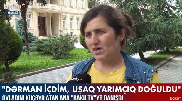 """Övladını küçəyə atan ana """"Baku TV""""yə danışdı –  VİDEO"""