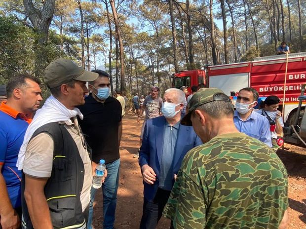 Türkiyədə olan FHN-in yanğınsöndürmə qüvvələri yanğınlarla mübarizəni davam etdirir -  VİDEO