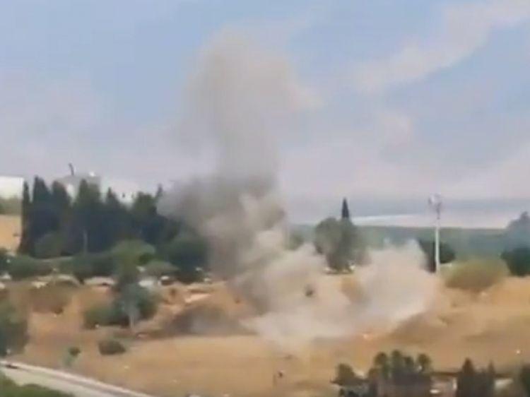 Livan İsrailə raket zərbələri endirdi -  VİDEO