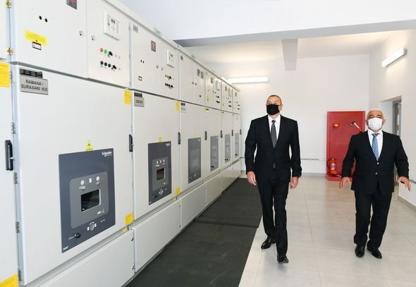 """Prezident yenidən qurulan """"Suraxanı"""" yarımstansiyasının açılışında iştirak edib -  FOTO"""