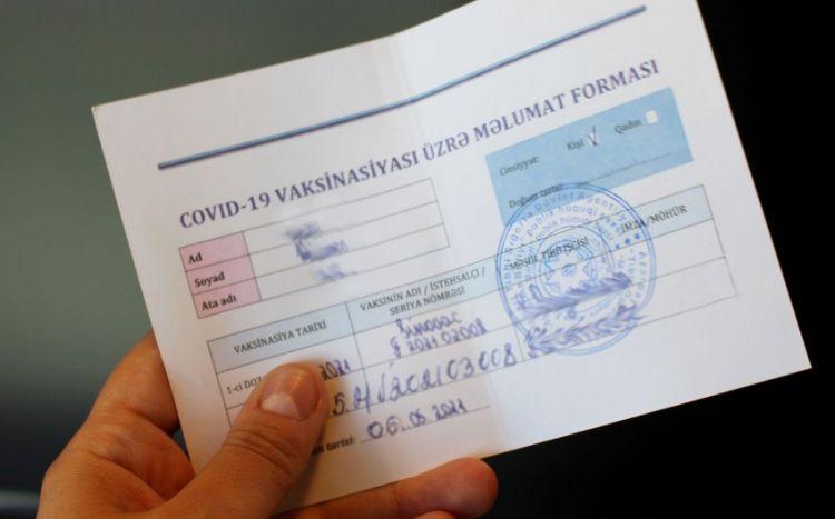 Nazirlikdən COVID-19 peyvəndi və immunitet sertifikatı ilə bağlı  XƏBƏRDARLIQ - FOTO