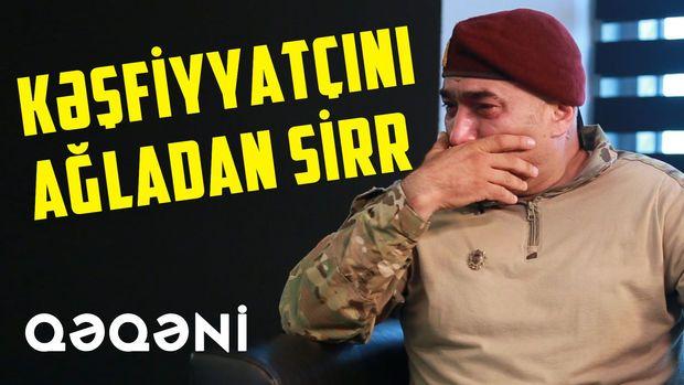 """Kəşfiyyatçı Qəqəni: """"Döyüşə erməni polkovnikinin silahı ilə girdim""""-  VİDEO"""