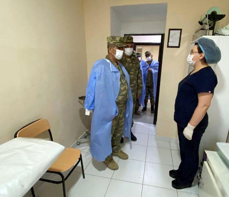 Nazir Kəlbəcər və Laçında hərbi hospitallara baxdı - VİDEO