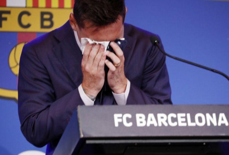 """Messi """"Barselona""""dakı son mətbuat konfransında hönkür-hönkür ağladı –  VİDEO"""