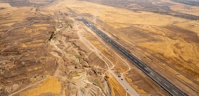 Füzuli hava limanının havadan görüntüləri -  FOTO