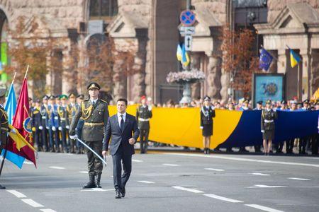 """Ukraynada hərbi paradda """"Bayraqdar"""" nümayiş etdirilib - FOTO"""