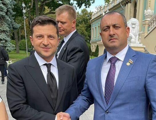 Adil Əliyev Zelenski ilə görüşdü -  FOTO