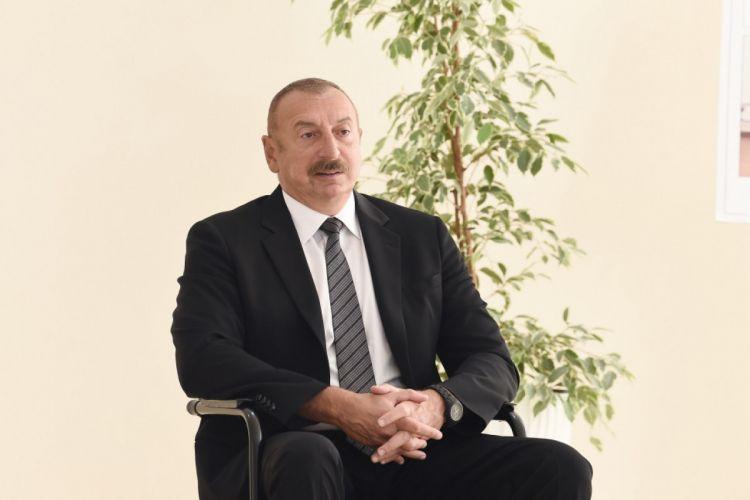 """""""Orada ermənilərlə birləşib bizə qarşı iş aparılırdı..."""" -  İlham Əliyev"""