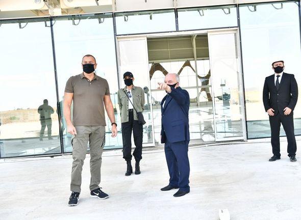 İlham Əliyev və Mehriban Əliyeva Füzuli Beynəlxalq Hava Limanında görülən işlərlə tanış olublar