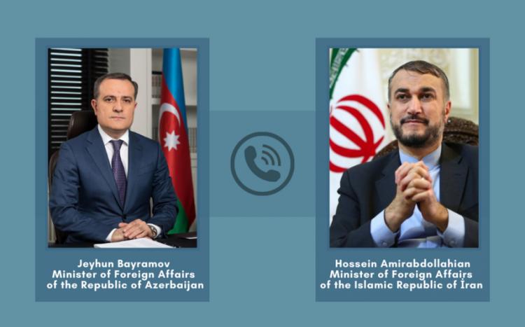 Azərbaycan və İran xarici işlər nazirləri arasında telefon danışığı olub