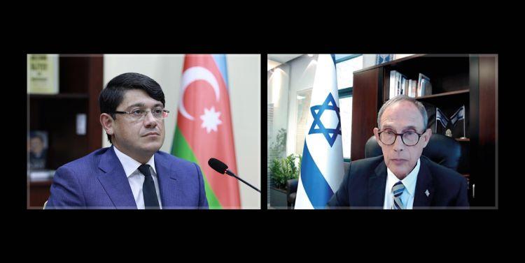 İsrailin yeni təyin olunmuş naziri ilə videogörüş keçirilib