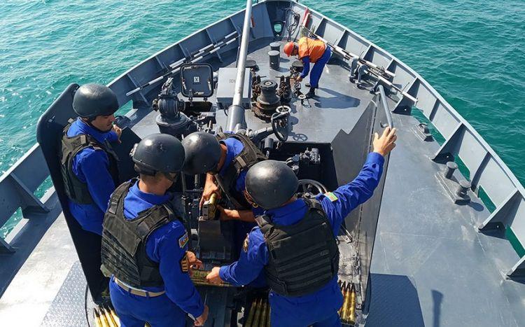 """""""Dəniz kuboku"""" müsabiqəsində hava hədəflərinə artilleriya atışları yerinə yetirilib -  VİDEO"""