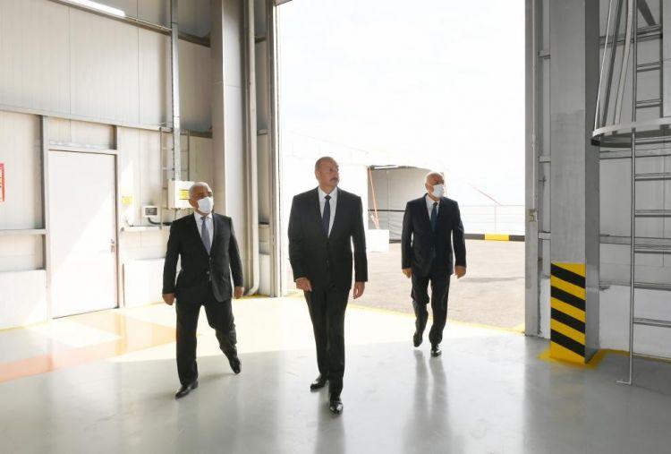İlham Əliyev Sumqayıt Elektrik Stansiyasının yeni estakada nasos stansiyasının açılışında -  Yenilənib